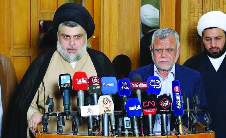 تحالف مفاجئ بين الصدر والعامري  يخفّف حدة التوتر السياسي في العراق