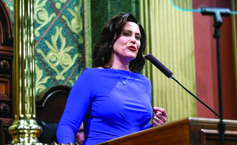 ويتمر في خطابها الأول عن «حال الولاية»: ميشيغن تواجه أزمتين رئيسيتين