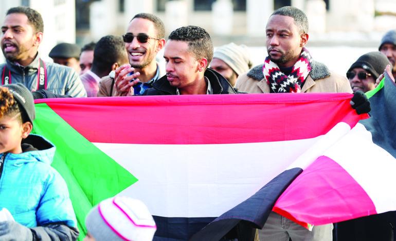 الجالية السودانية تتظاهر في ديربورن ضد البشير