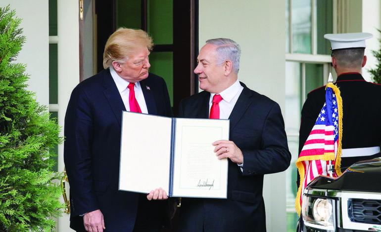 بعد القدس .. أميركا تعترف بسيادة إسرائيل على الجولان