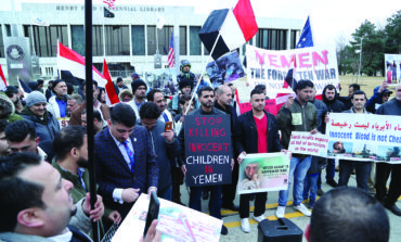 وقفة تضامنية مع الشعب اليمني في ديربورن مع دخول الحرب سنتها الخامسة