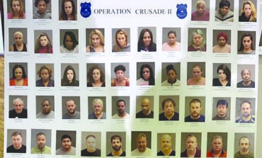 شرطة وورن تعتقل 46 شخصاً في حملة ضد الدعارة وتجارة المخدرات في المدينة
