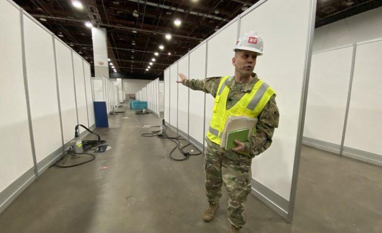 الجيش الأميركي يباشر ببناء مستشفى ميداني ثانٍ لاستقبال مرضى كورونا في منطقة ديترويت الكبرى