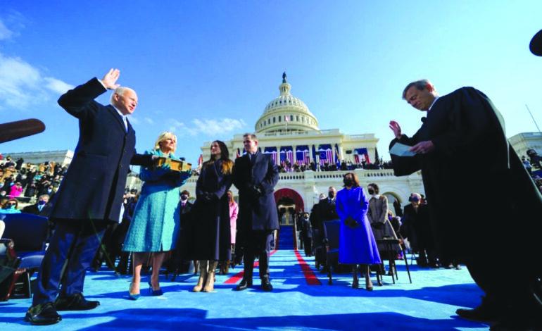 نهاية حقبة ترامب .. بايدن يبدأ عهده بسلسلة أوامر تنفيذية بعد حفل تنصيب غير تقليدي