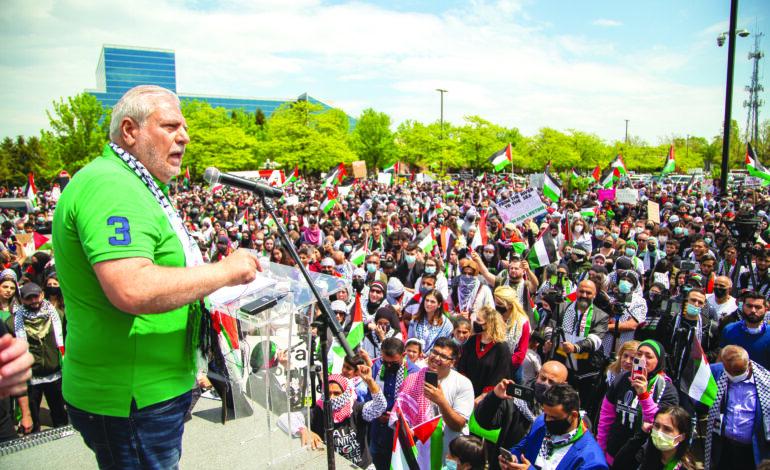 ديربورن تُناصِرغزّة.. في أكبر مظاهرة مؤيدة لفلسطين في الولايات المتحدة
