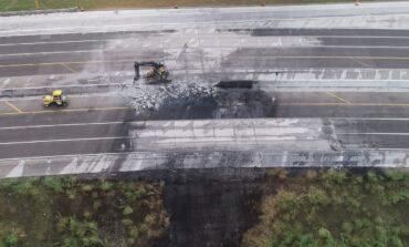 احتراق صهريج وقود في ترُوي يتسبب  بإغلاق الطريق السريع «75» .. لأسابيع